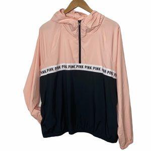 Victoria Secret PINK Pullover Zip Windbreaker Coat